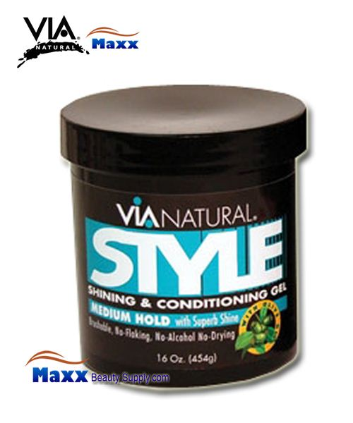 Via Natural Style Shining and Conditioning Gel Regular 16oz